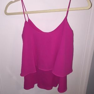 Pink Loose tank top blouse size small!